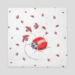 Ladybug, ladybug fly away Queen Duvet