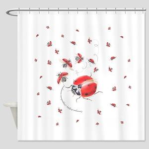 Ladybug, ladybug fly away Shower Curtain