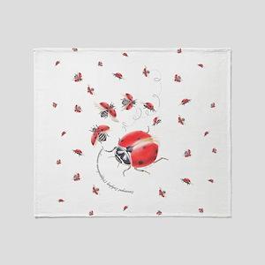 Ladybug, ladybug fly away Throw Blanket