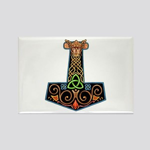 Hand Painted Thor's Hammer Magnets