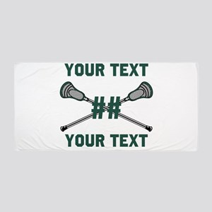 Personalized Green Beach Towel