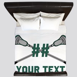 Personalized Green King Duvet