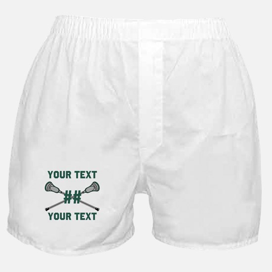 Personalized Green Boxer Shorts