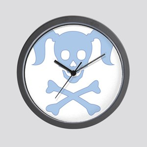 Girly Skull Wall Clock