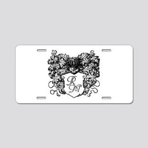 Decorative Monogram, Personalize Aluminum License
