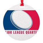 01MLQuarters_OnWhtOnly Round Ornament