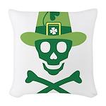 St_Patrick Woven Throw Pillow