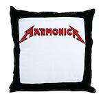 Harmonica_Final Throw Pillow