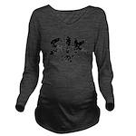 SIK_Blk2 Long Sleeve Maternity T-Shirt