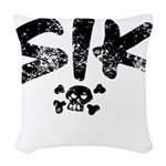 SIK_Blk2 Woven Throw Pillow