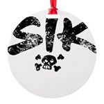 SIK_Blk2 Round Ornament