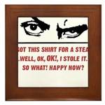 2-StolenShirtFinal_men Framed Tile
