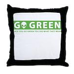 GoGreen Throw Pillow