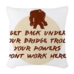 TrollBridge Woven Throw Pillow