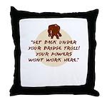 TrollBridge Throw Pillow