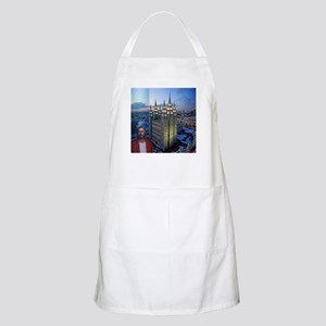 Jesus in front of salt lake city temple Apron