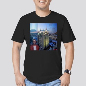 Jesus in front of salt lake city temple T-Shirt