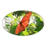 Orange Butterfly Aglow Sticker
