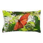 Orange Butterfly Aglow Pillow Case