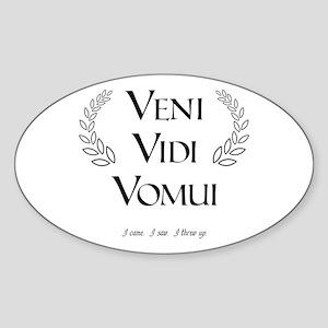 Veni Vidi Vomui Oval Sticker
