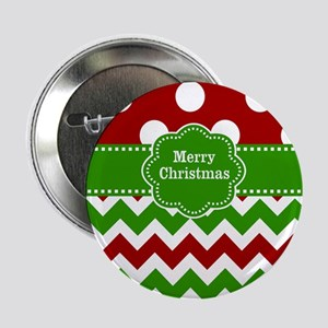 "Red Green Christmas 2.25"" Button"
