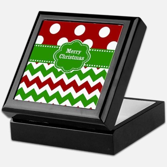Red Green Christmas Keepsake Box