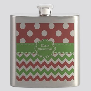 Red Green Christmas Flask