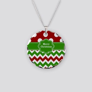 Red Green Christmas Necklace