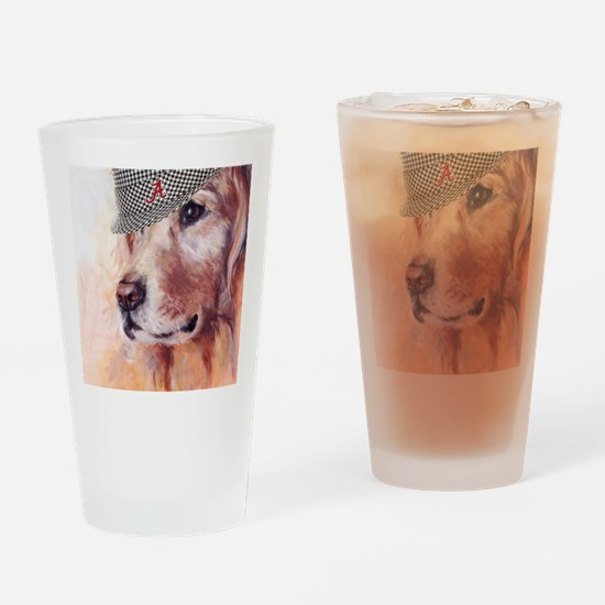 Crimson Canine Drinking Glass