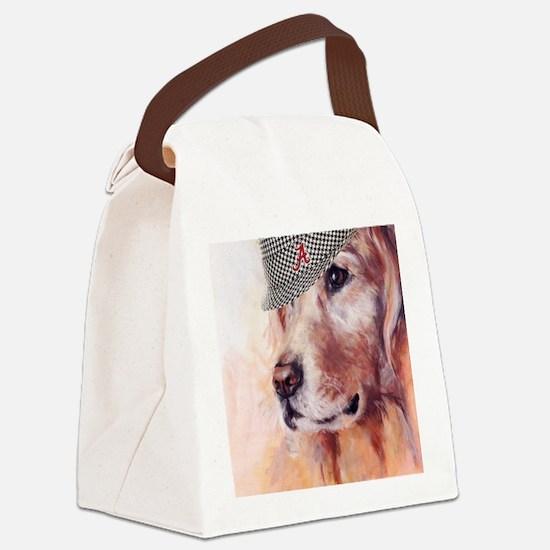 Crimson Canine Canvas Lunch Bag