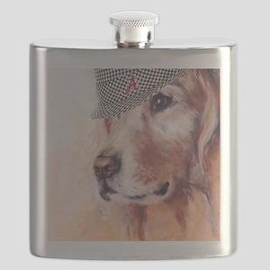 Crimson Canine Flask