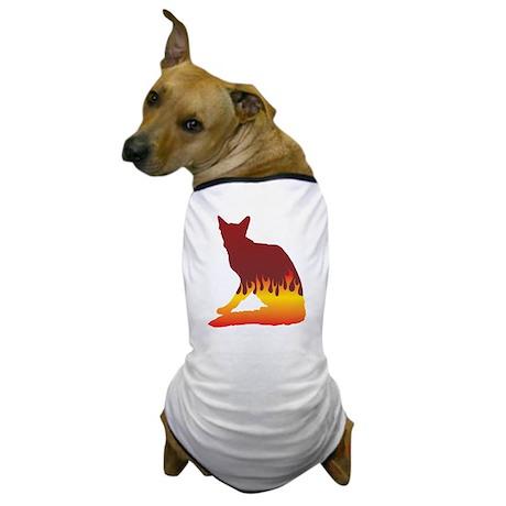 Balinese Flames Dog T-Shirt