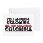 Yes, I Am From Colombia Greeting Cards