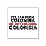 Yes, I Am From Colombia Sticker