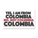 Yes, I Am From Colombia Rectangle Car Magnet