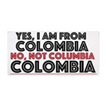Yes, I Am From Colombia Beach Towel