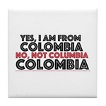 Yes, I Am From Colombia Tile Coaster