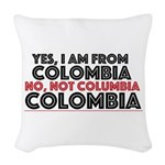 Yes, I Am From Colombia Woven Throw Pillow