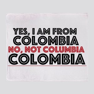 Yes, I Am From Colombia Throw Blanket