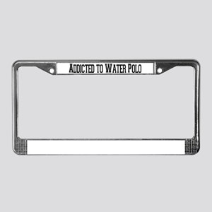 Addicted to Water Polo License Plate Frame