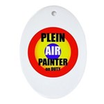 IPAP Easel Oval Ornament