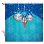 Snowflake Holiday Shower Curtain