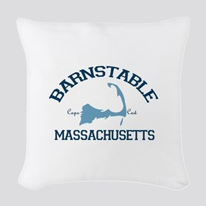 Barnstable - Cape Cod - Map Woven Throw Pillow