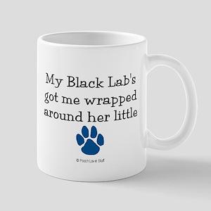 Wrapped Around Her Paw (Black Lab) Mug