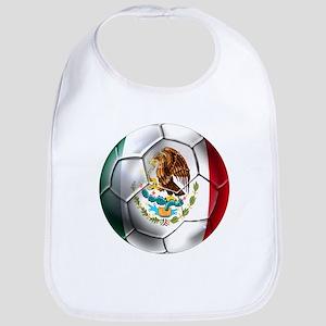 Mexican Soccer Ball Baby Bib