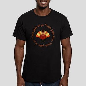 Gobble 'til you Wobble Men's Fitted T-Shirt (dark)