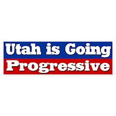 Utah Going Progressive Bumper Bumper Sticker