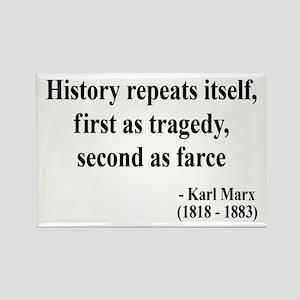 Karl Marx Text 6 Rectangle Magnet