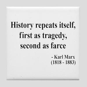 Karl Marx Text 6 Tile Coaster