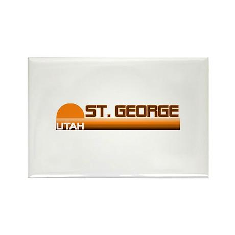 St. George, Utah Rectangle Magnet (100 pack)